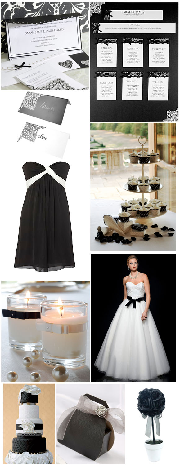 Black and white wedding theme ideas apartment design ideas for All white wedding theme pictures
