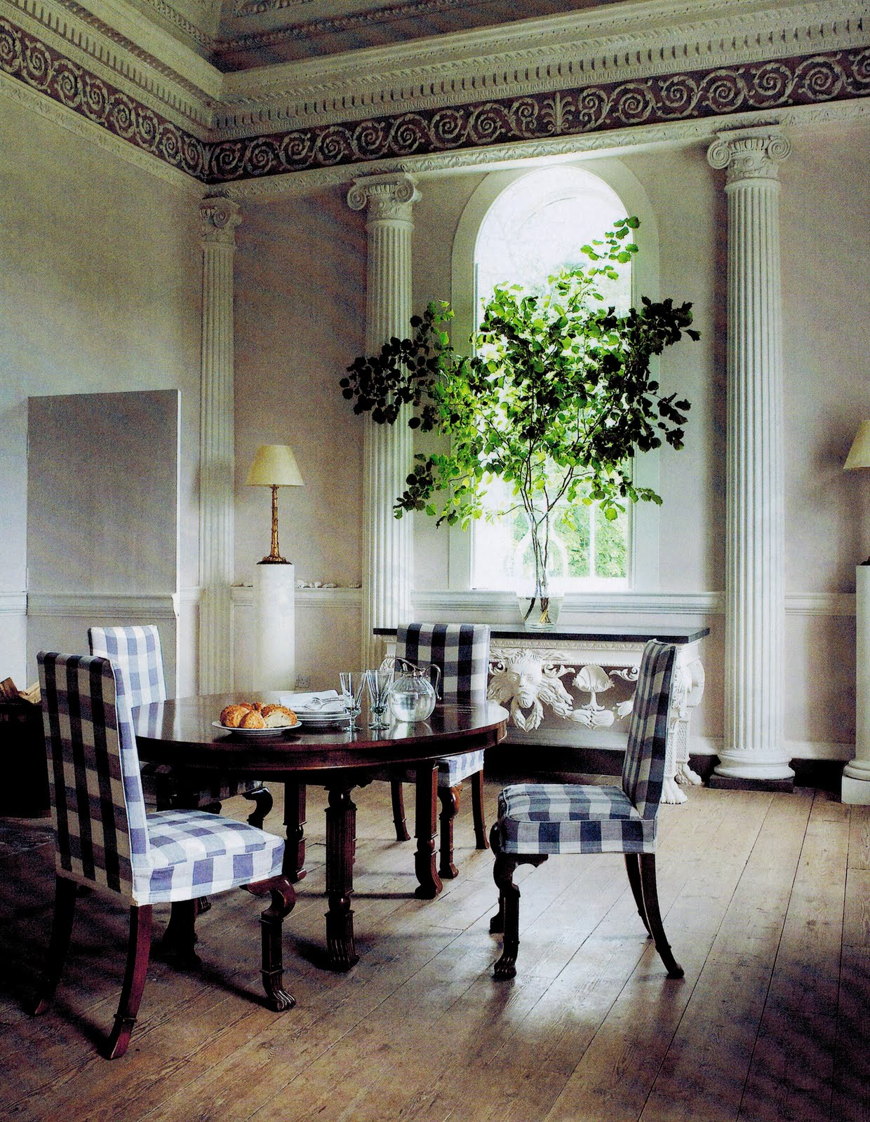 dining room made up into a Roman blind or curtains, or on a table