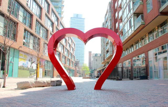 Distillery District Toronto - heart