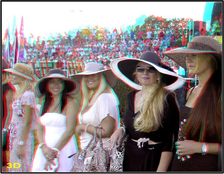 Dame sa lepim šeširima na ŠABAČKOM HIPODROMU