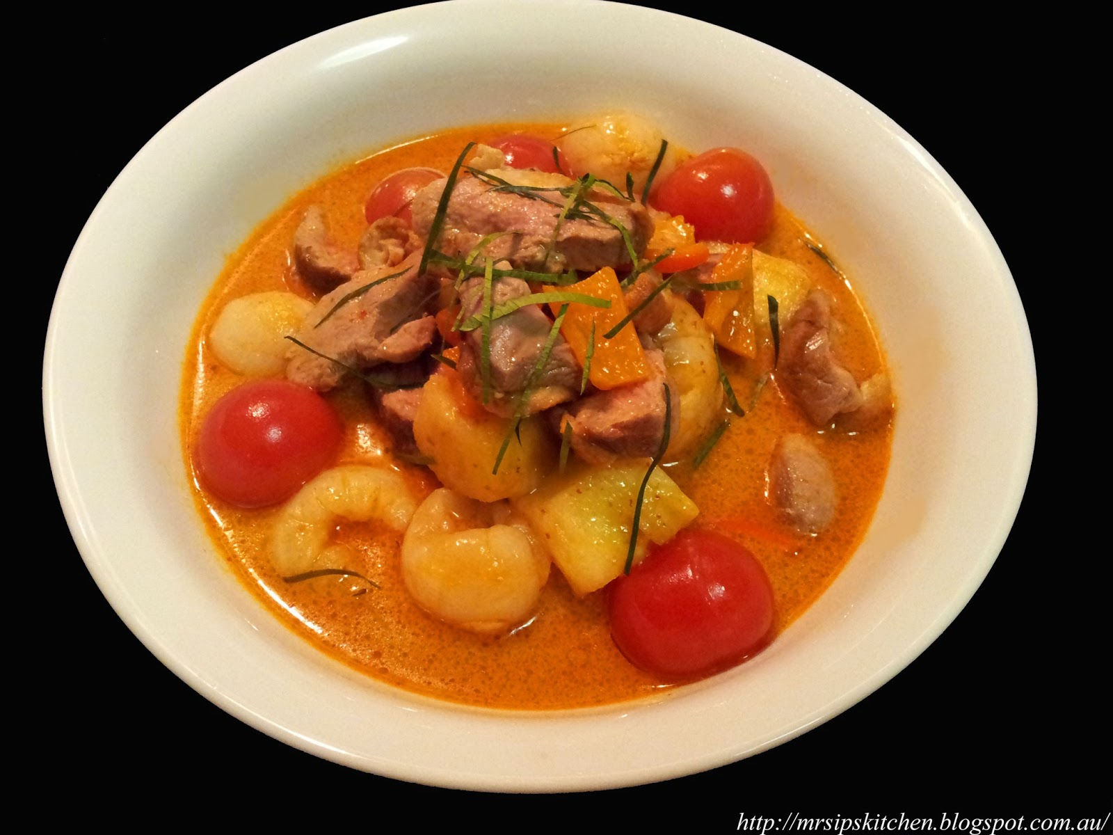 Mrs. Ip's Kitchen: Thai Red Duck Curry with Pineapple & Lychees