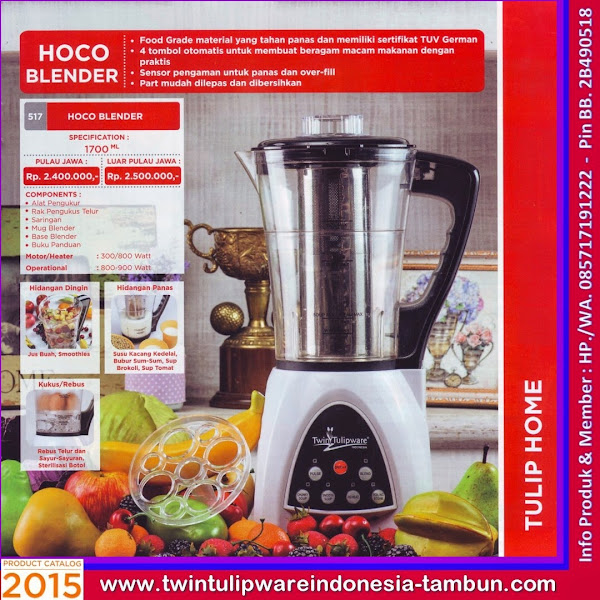 HoCo Blender, Hot & Cold Blender Tulipware 2015