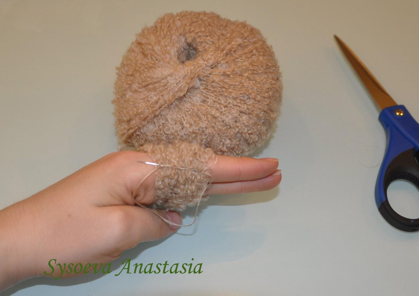 Причёска для куклы из ниток мк