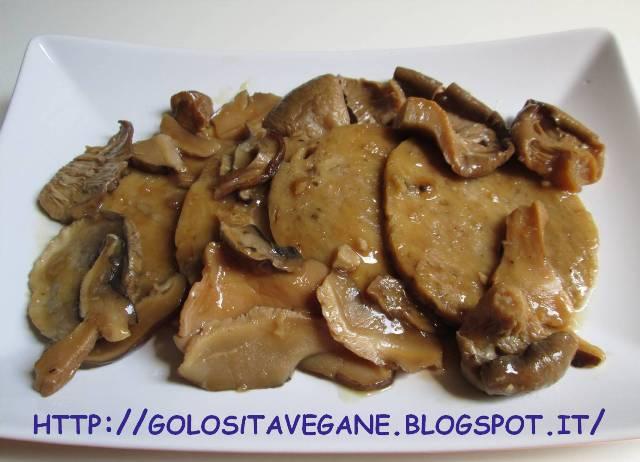 amido di mais, brodo, farina, fecola, fettine, funghi secchi, ricette vegan, Secondi, seitan, tamari,