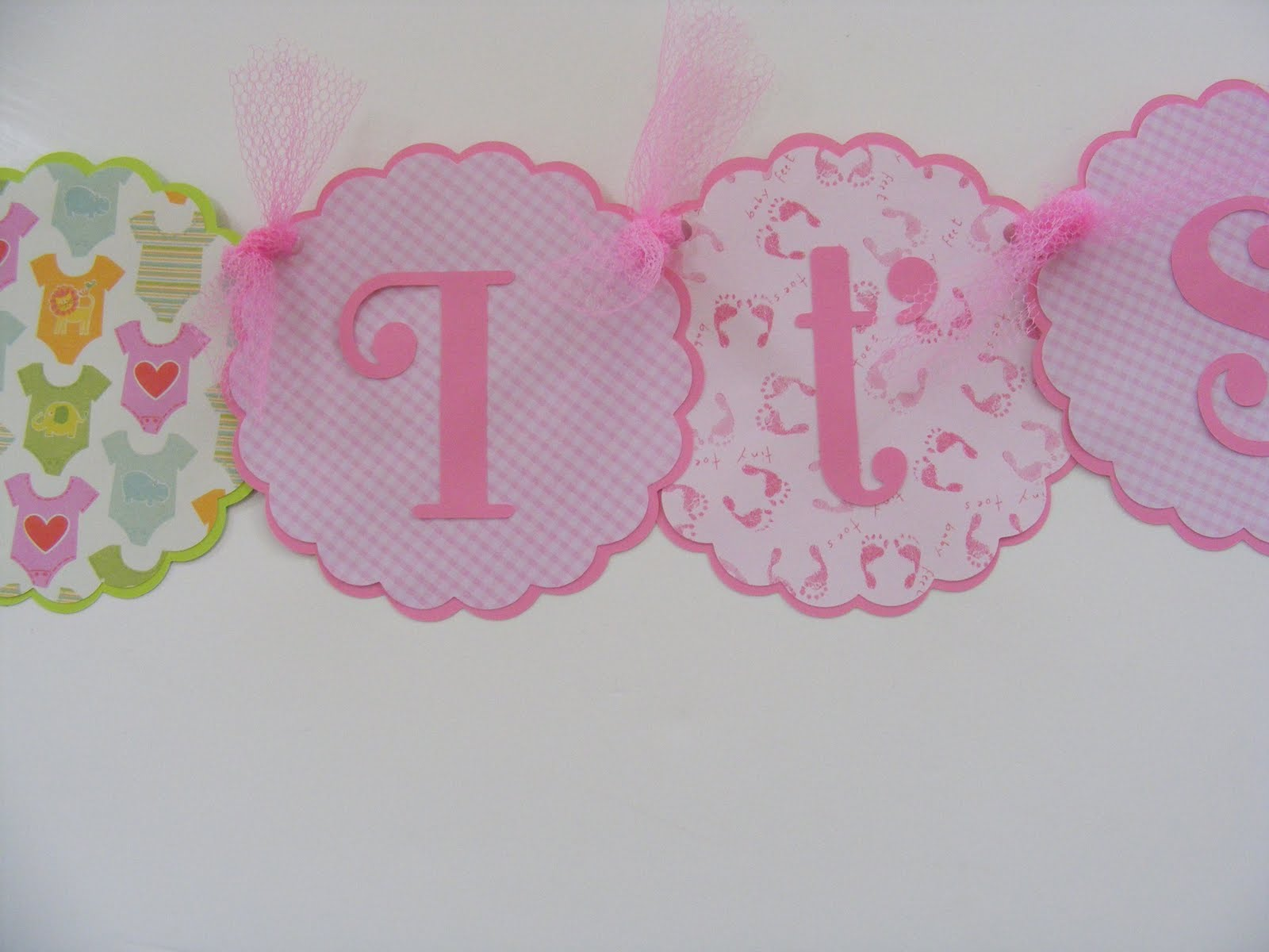 Whimsical creations by ann its a girl new baby shower banner Baby shower banners