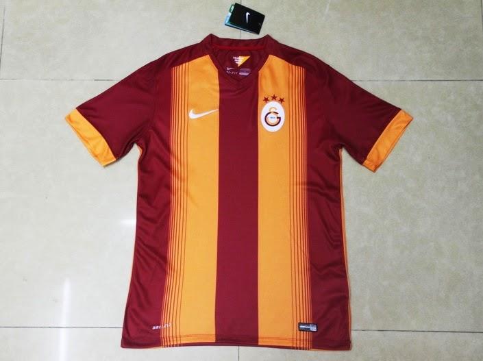 Jersey Bola Grade Ori Galatasaray Terbaru Official 2014-2015 Orange Nike