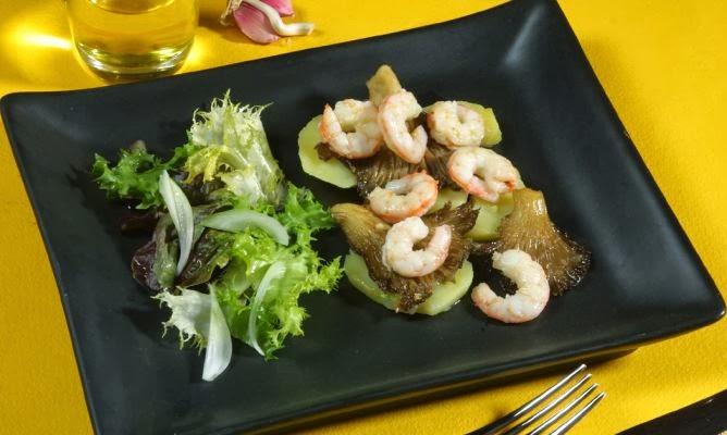 Ensalada de camarones oliva premium