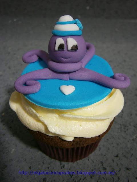 cupcakes pulpo marinero