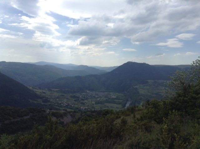 view over Ispagnac, Languedoc, France