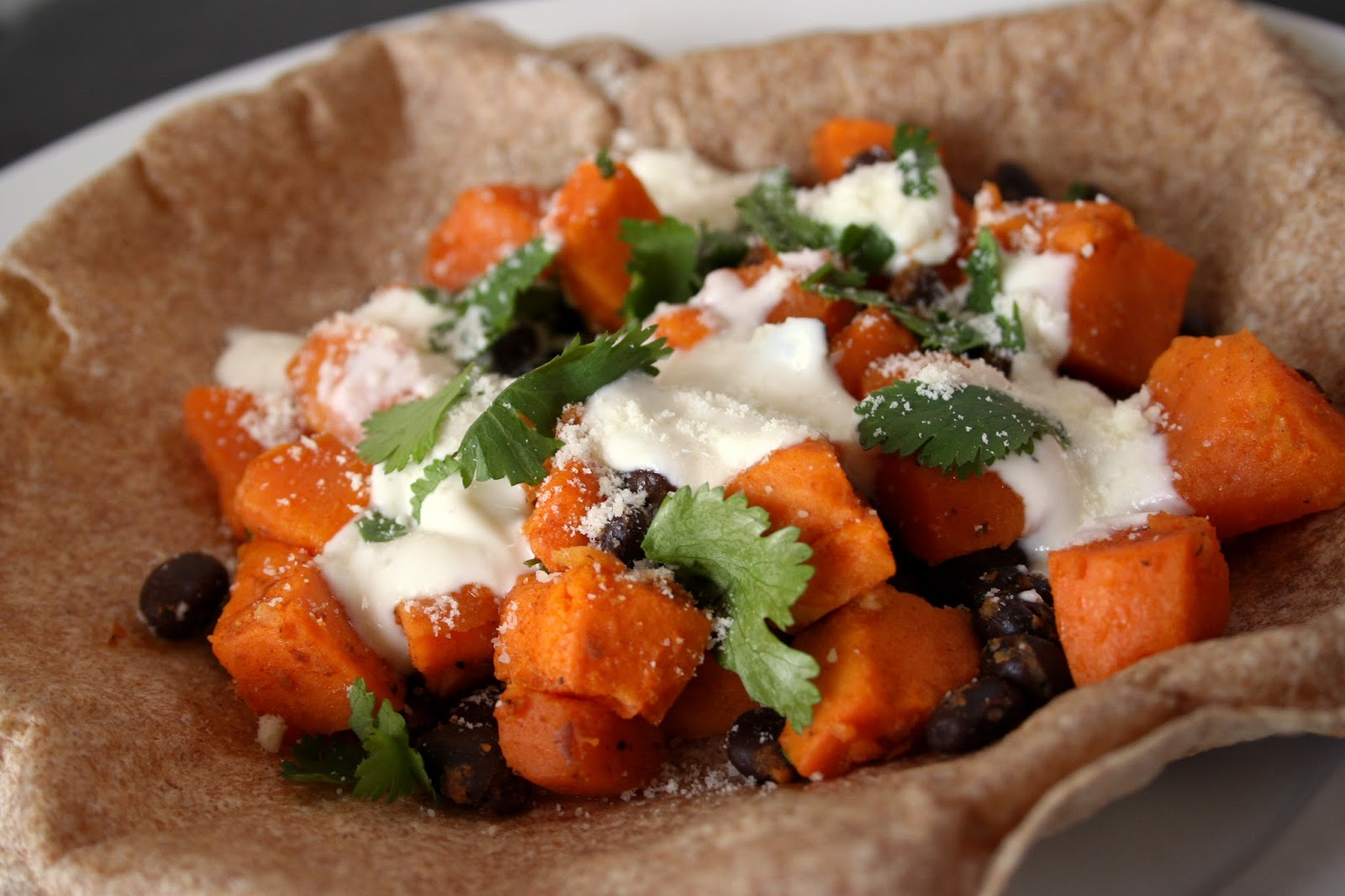 For the Love of Food: Easy Smoky Sweet Potato and Black Bean Tacos