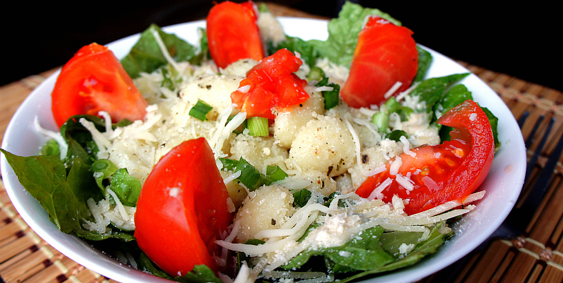 Homemade recipe for Warm and Cheesy Gnocchi Salad