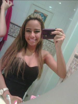 Foto da irmã do jogador Neymar