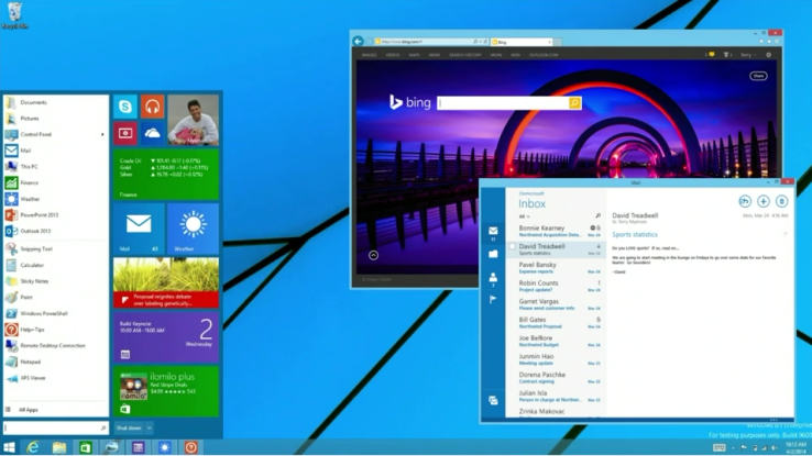 Microsoft Windows 8.1 Metro UI for PCs and laptops GPU with DirectX 9 support