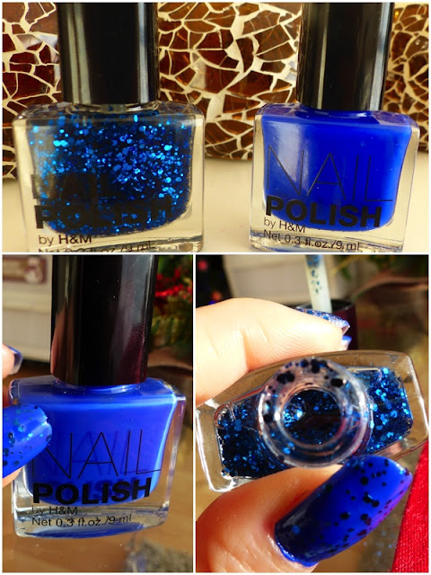 Nail Polish by H&M - Blue and Dark Blue Glitter