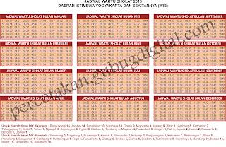 jadwal sholat, imsakiyah 1434 H, design kalender 2013, jadwal sholat