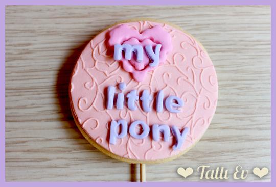 Fotoğraf Baskılı My Little Pony Temalı Kurabiye Buketi