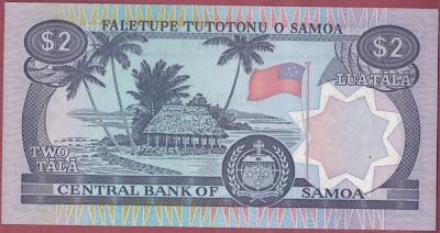 Samoa 2 Tala 1985 P# 25