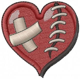 broken heart mini embroidery