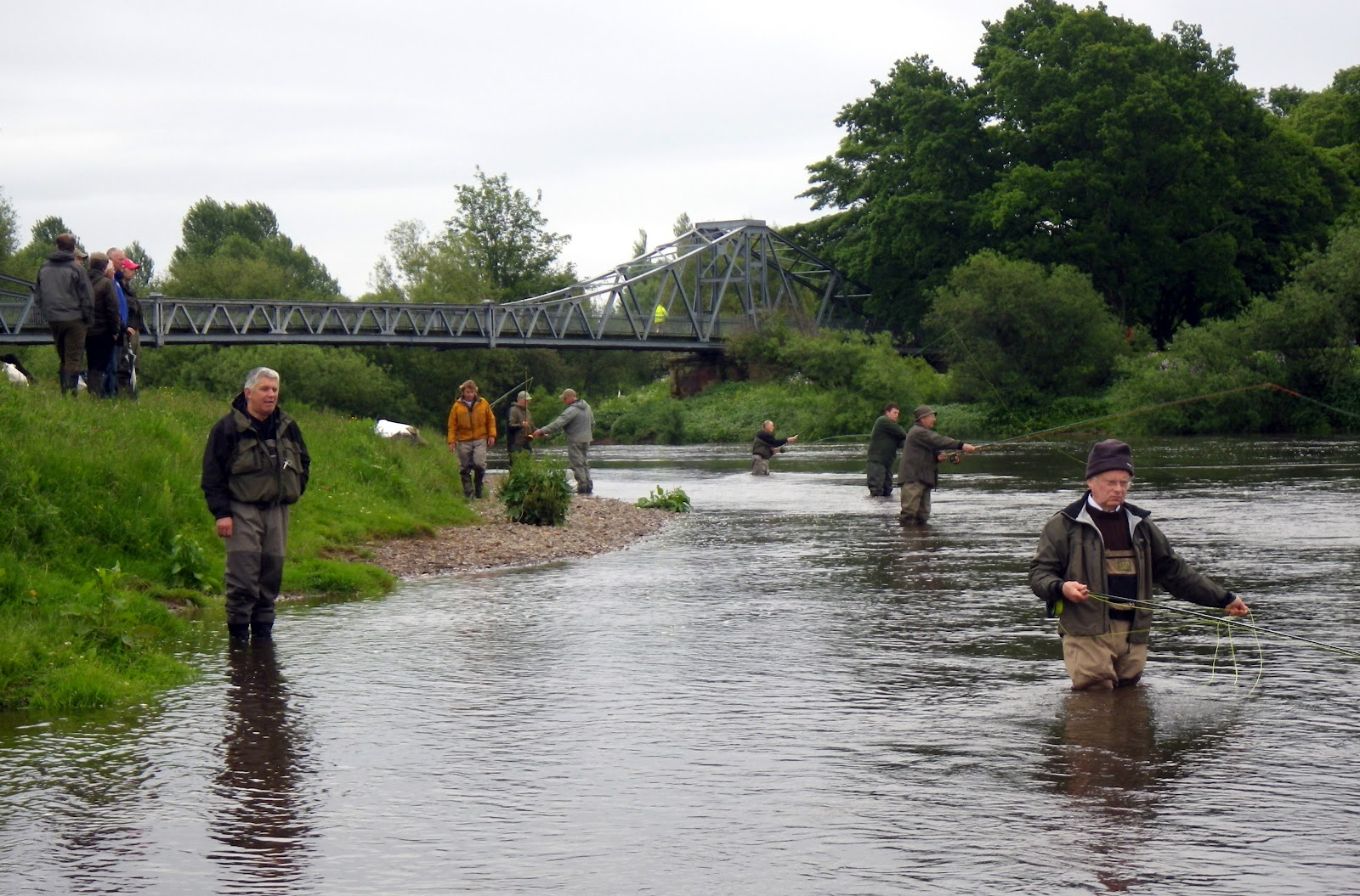 Border game angling july 2012 for Fly fishing games