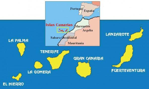 Islas canarias mapa y gastronom a sitios donde viajar - Baleares y canarias ...