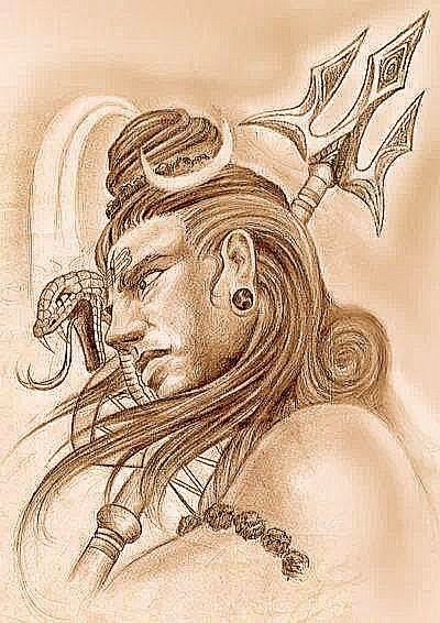 Lord Shiva The Powerful God:  Shiva is 'shakti' or power, Shiva is the destroyer, the most powerful god of the Hindu pantheon and one of the godheads in the Hindu Trinity. Known by many names - Mahadeva, Mahayogi, Pashupati, Nataraja, Bhairava, Vishwanath, Bhava, Bhole Nath - Lord Shiva is perhaps the most complex of Hindu deities. Hindus recognize this by putting his shrine in the temple separate from those of other deities.  Shiva As Phallic Symbol:  Shiva, in temples is usually found as a phallic symbol of the 'linga', which represents the energies necessary for life on both the microcosmic and the macrocosmic levels, that is, the world in which we live and the world which constitutes the whole of the universe. In a Shaivite temple, the 'linga' is placed in the center underneath the spire, where it symbolizes the naval of the earth.   Read the Story of the Shiva Lingam   A Different Deity:  The actual image of Shiva is also distinct from other deities: his hair piled high on the top of his head, with a crescent tucked into it and the river Ganges tumbling from his hairs. Around his neck is a coiled serpent representing Kundalini or the spiritual energy within life. He holds a trident in his left hand in which is bound the 'damroo' (small leather drum). He sits on a tiger skin and on his right is a water pot. He wears the 'Rudraksha' beads and his whole body is smeared with ash.  The Destructive Force:  Shiva is believed to be at the core of the centrifugal force of the universe, because of his responsibility for death and destruction. Unlike the godhead Brahma, the Creator, or Vishnu, the Preserver, Shiva is the dissolving force in life. But Shiva dissolves in order to create, since death is the medium for rebirth into a new life. So the opposites of life and death and creation and destruction both reside in his character.  The Most Fascinating of Gods:  He is also often portrayed as the supreme ascetic with a passive and composed disposition. Sometimes he is depicted riding a bull called Nandi decked in garlands. Although a very complicated deity, Shiva is one of the most fascinating of Hindu gods.  The God Who's Always High!:  Since Shiva is regarded as a mighty destructive power, to numb his negative potentials he is fed with opium and is also termed as 'Bhole Shankar', one who is oblivious of the world. Therefore, on Maha Shivratri, the night of Shiva worship, devotees, especially the menfolk, prepare an intoxicating drink called 'Thandai' (made from cannabis, almonds, and milk) sing songs in praise of the Lord and dance to the rhythm of the drums. lord shiva new wallpaper