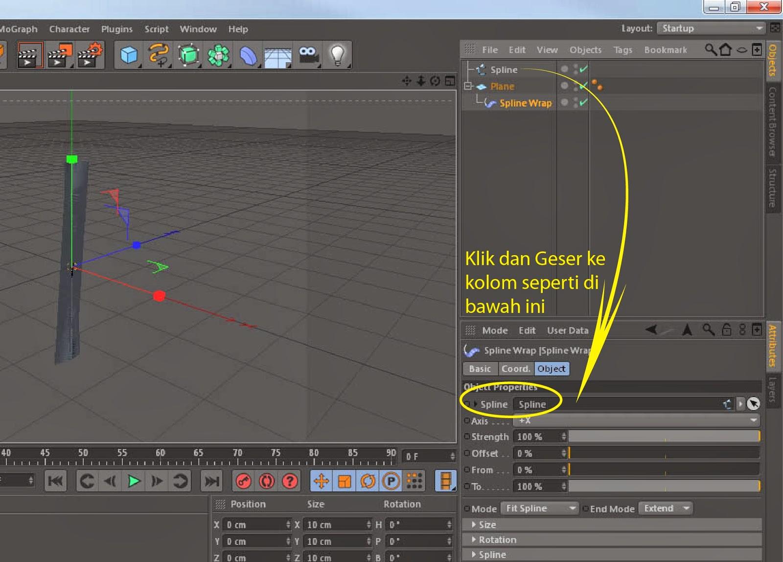 Tutorial Membuat Animasi Korden Dengan Cinema 4D