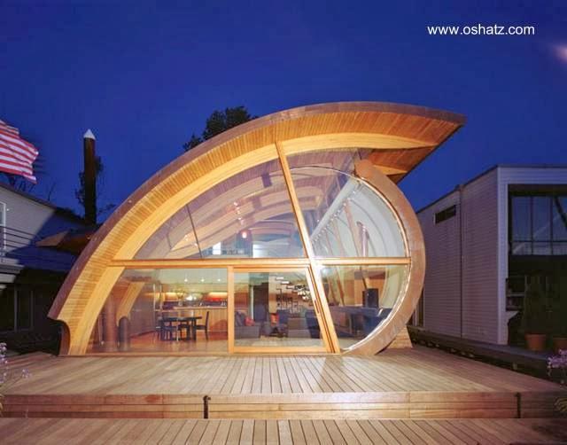 Casa orgánica de madera en Portland, Oregon, Estados Unidos