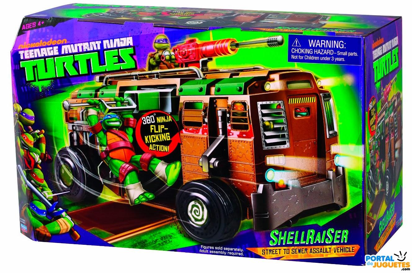 autocaravana shell raiser tortugas ninja caja
