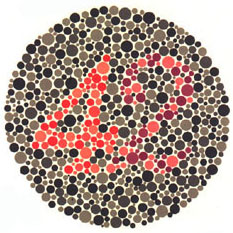 Prueba de daltonismo - Carta de Ishihara 23