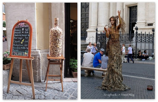 Street performer Rome Italy