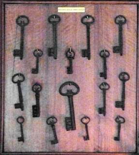 Keys of Corfe Castle on display at Kingston Lacy