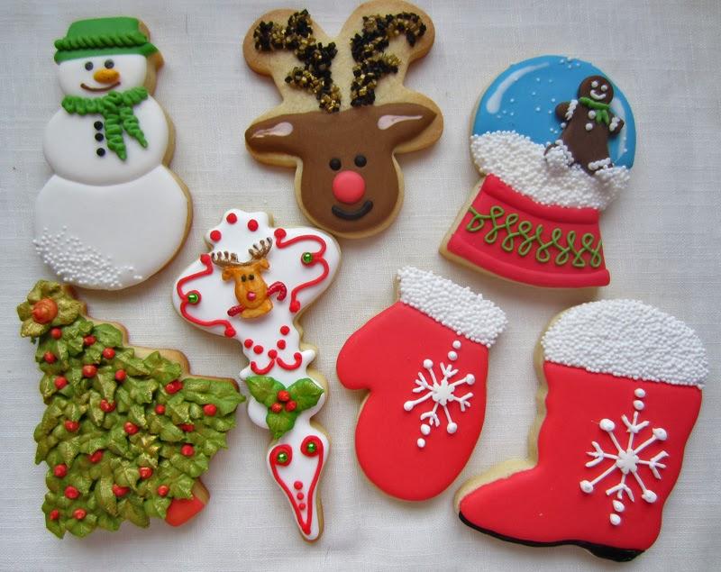 Galletas navidad de chocolate y de vainilla