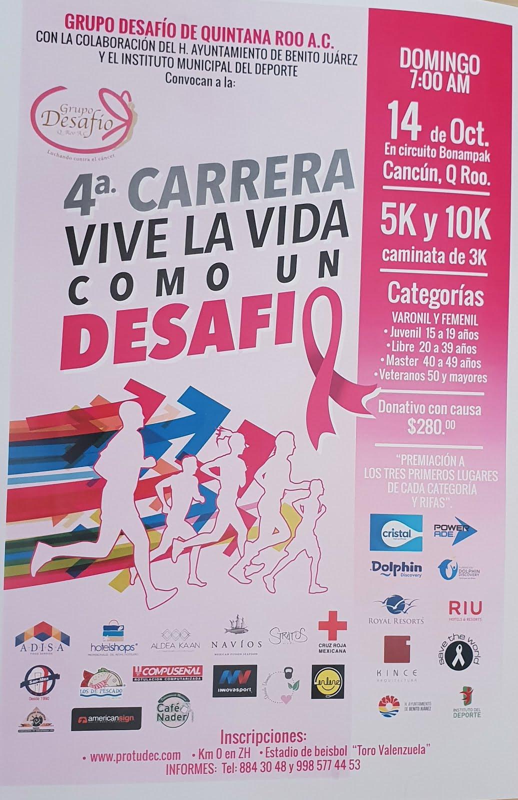 "4ta CARRERA ""VIVE LA VIDA COMO UN DESAFIO"""