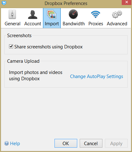 disable this feature of Dropbox