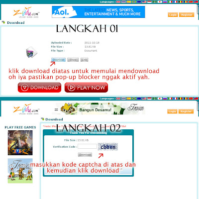 Tutorial mendownload di Ziddu