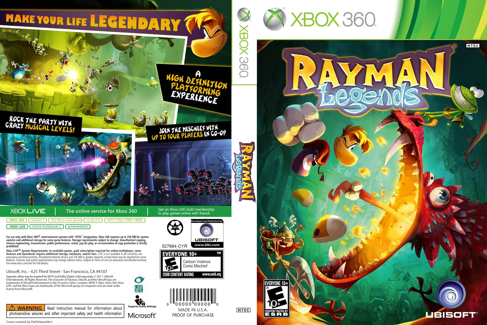 Capa Rayman Legends Xbox 360