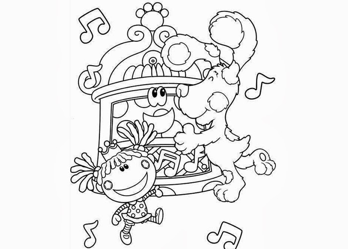 Blue Clues Coloring Pages