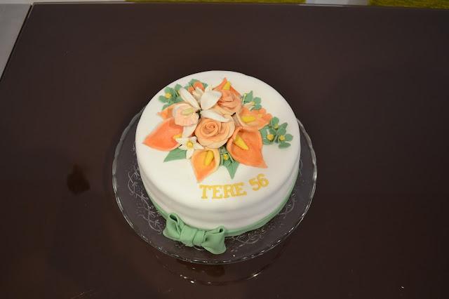 tarta Fondant bouquet Flores
