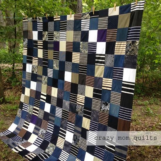 crazy mom quilts: a memory quilt top : masculine quilt - Adamdwight.com