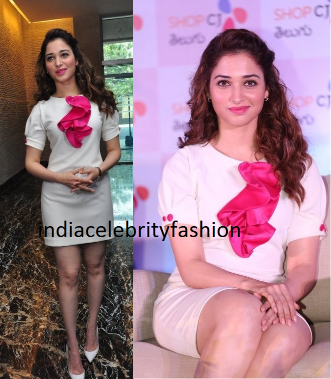Tamannah bhatia in CestMoi Dress at shopcjindia telugu launch