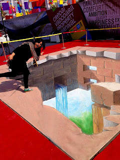 3D street painting artists india, 3d chalk artist india, 3d street art india