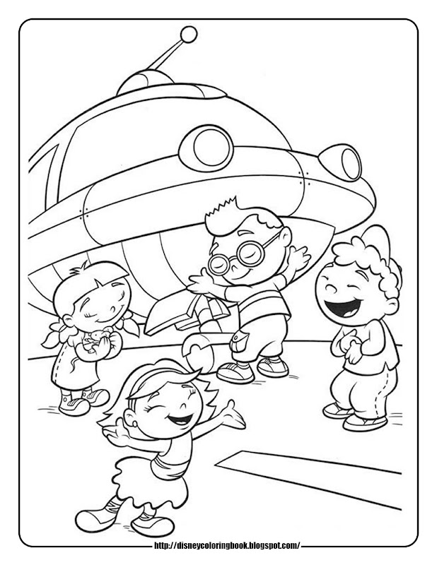 Little Einsteins 4: Free Disney Coloring Sheets title=