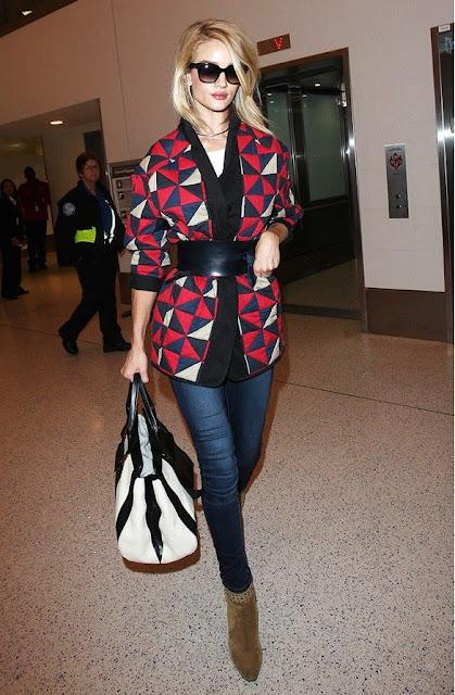 Sete dias sete looks das celebridades Rosie Huntington