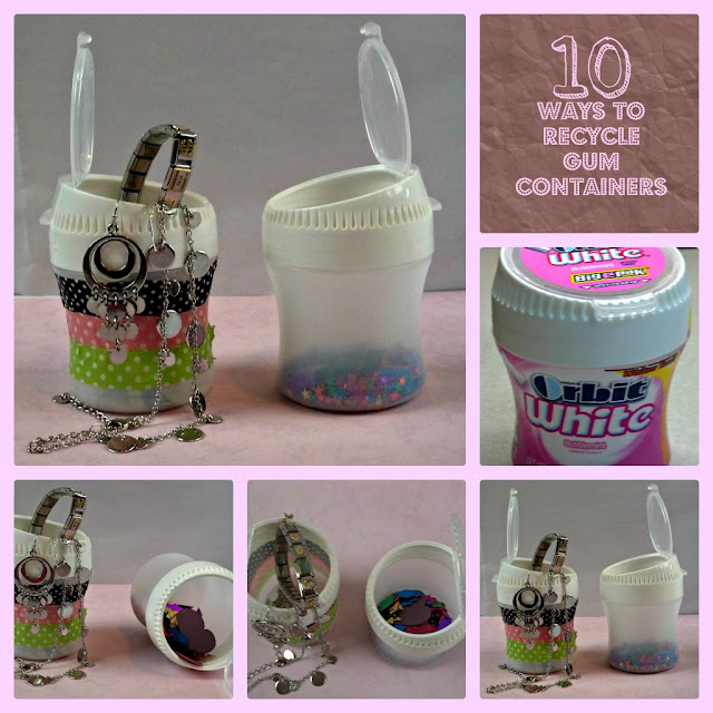 Crazylou 10 ways to recycle gum containers for Four man rubber life craft