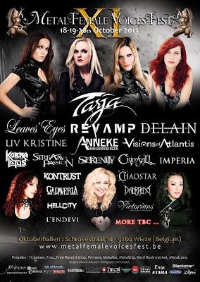 Flyer del Metal Female Voices Fest