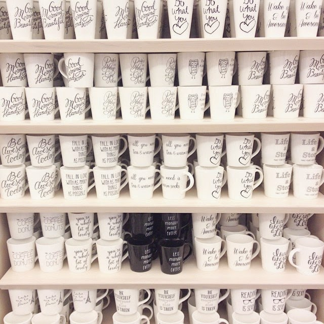 Coffee Mug galore at Chapters, Indigo