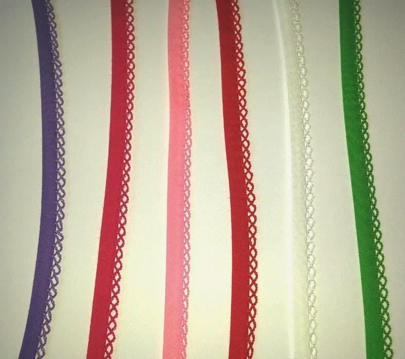 Kies maar uit 6 kleuren biaisband met kant MaMarieke