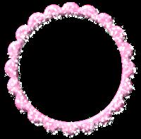 Moldura redonda rosa