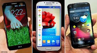 perbedaan LG G2 dibanding dengan Samsung Galaxy S4 atau Moto X