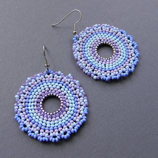 beadwork hoop earrings beaded jewelry seed bead brick beadwork beadweavinh blog